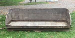Country Primitive Rustic Adirondack Style Daybed Porch Bench Settle