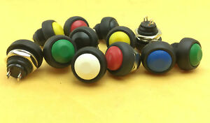 1 100pc Colors M4 12mm Waterproof Momentary On off Push Button Round Spst Switch