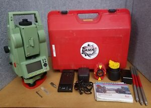Leica Tcr407 Reflectorless Total Station Transit Level W Mini Prism Surveying