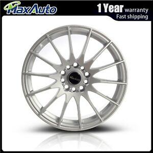 1 Pcs 17x7 5 5x110 5x115 Wheels 73 1 40mm Silver Rims For 83 15 Toyota Camry