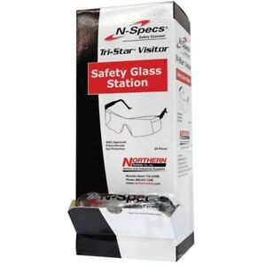 N specs Tri star Visitor Clear Lens Safety Glasses Eye Protection Box Of 24