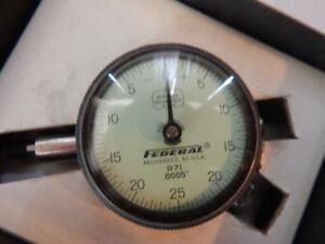 Machinist Tool Federal Miracle Movement Dial Indicator Iob Very Good