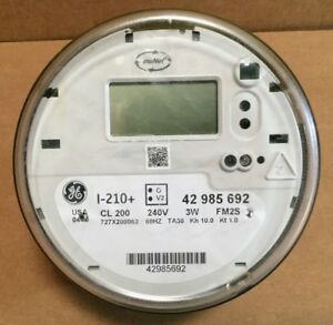 Ge I 210 Watthour Electric Smart Meter Cl200 240v 3w Fm2s w Perforations
