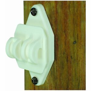 Field Guardian 100 pack Wood Post Nail On Insulator For Hi tensile White