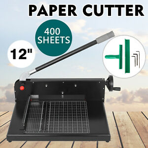 12 Width Guillotine Paper Cutter Heavy Duty Stack Paper Trimmer On Sale Popular