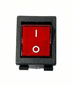50pc Light Rocker Switch 4p 10a125v 250vac 16a 250vac Ul Vde Js 608 Red Cap Jec