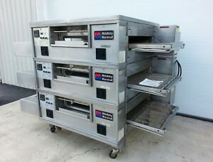 Middleby Marshall Ps555 Triple Deck Conveyor Pizza Oven belt Width 32