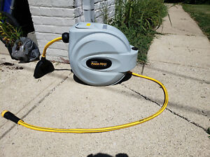 Power Retractable Hose Reel 5 8 X 50 Ft Super Heavy Duty 500 Psi Burst
