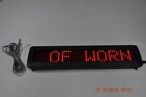 Programmable Scrolling Message Red Led Display Board 2 X 15 Screen 5v
