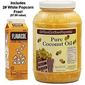 Coconut Popcorn Popping Oil gallon white Flavacol