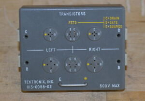 Tektronix 013 0098 02 Transistor Test Fixture For Curve Tracers Good