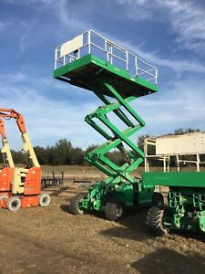 2008 Jlg 3394 4wd Rough Terrain Scissor Lift 33 Deck 39 work Hgt Dual Fuel Hd