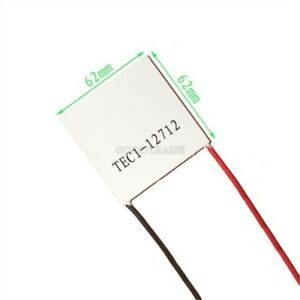 10pcs Tec1 12712 Heatsink Thermoelectric Cooler Cooling Peltier Plate Module F