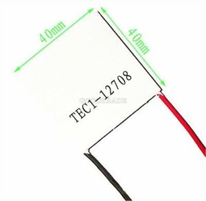 10pcs Tec1 12708 Heatsink Thermoelectric Cooler Cooling Peltier Plate Module I