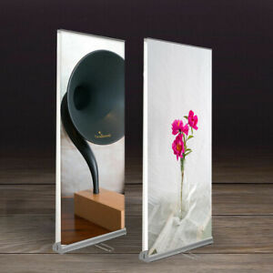 Double Side Retractable Roll Up Banner Stand Trade Show Display 33 5 x79