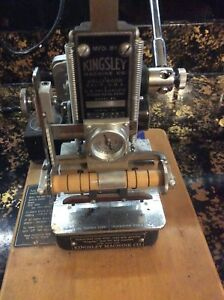 working Kingsley Stamping Machine Co M50 Hot Foil Stamper With Lots Of Extras