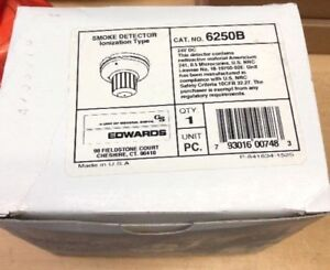 Edwards 6250b Smoke Detector Ionization Type Fire Alarm New Old Stock