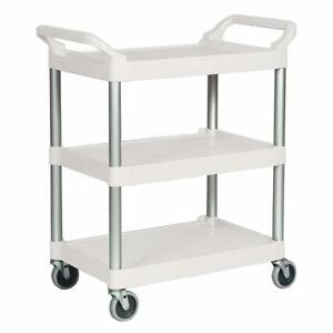Rubbermaid Commercial Fg342488owht Plastic Utility Cart White Box Damage