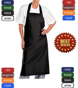 Bib Aprons 12 pack With Ties New Spun Poly Craft commercial Restaurant Kitchen