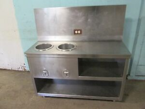 Heavy Duty Commercial S s 48 w 2 Wells Hot Soup Serving Station 120v 1ph