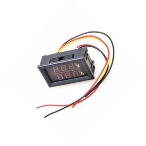 5pcs Dc 4 5 30v 0 50a Dual Led Digital Volt Meter Ammeter Voltage Amp Power X