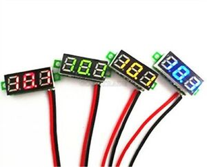 20pcs 0 28 Dc Digital Voltmeter Panel Mount Led Voltage Volt Meter Blue I