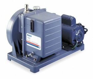 Welch Duoseal 1402b 01 Vacuum Pump 1 2 Hp 1 phase 525 Rpm 3z655 New