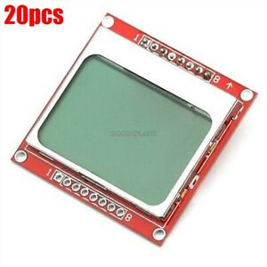 20pcs 84x48 84 48 Nokia 5110 Lcd Module With Blue Backlight Adapter Pcb T