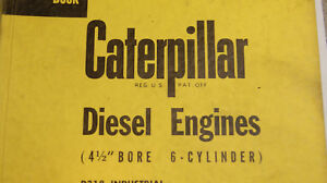 Caterpillar Servicemen s Reference Book For Diesel Engines 4 1 2 Bore 6 Cyl