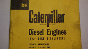 Caterpillar Servicemen s Reference Book For Diesel Engines 5 3 4 Bore 6 Cyl