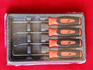 Snap On Tools Mini Soft Grip Pic 4 Pieces Set Orange New