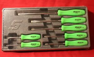 Snap On Screwdriver 7pc Set Green Handle Special Edition