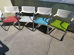 Vitra Visavis Leather Guest Chairs In Great Condition Large Quantity Available