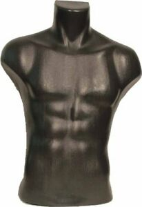 Male Torso Mannequin Plastic Base 20 shoulder 32 hips Steel 3 5 hole 35 chest