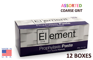 12 Boxes Element Prophy Paste Cups Assorted Coarse 200 box Dental Flouride