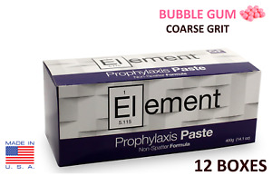 12 Boxes Element Prophy Paste Cups Bubble Gum Coarse 200 box Dental Flouride