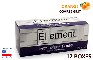 12 Boxes Element Prophy Paste Cups Orange Coarse 200 box Dental W flouride