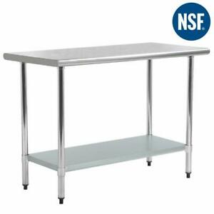 24 x60 Stainless Steel Kitchen Work Table Commercial Kitchen Restaurant Table
