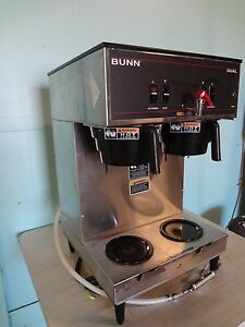 Heavy Duty Commercial bunn Dual Coffee Brewer For Use With Satellite Dispenser