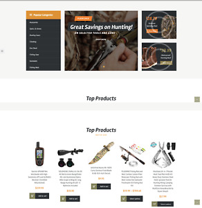Established Profitable Camping Hunting Gear Turn key Website For Sale