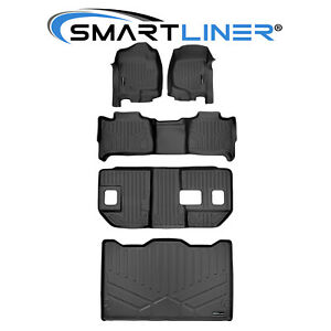 All Weather Floor Mats Set And Cargo Liner Black For 2007 14 Suburban Yukon Xl