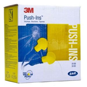 3m Push ins Earplugs Hearing Protection E a r Classic W cord Yellow Ms92160