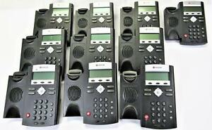 10x Polycom Soundpoint Ip 335 Voip Phone 2 Line Poe Without Stand No Handset