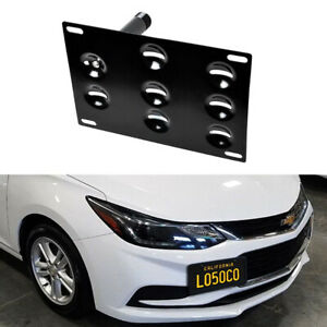 Front Bumper Tow Hook License Plate Bracket Adapter For 17 Up Gen2 Chevy Cruze