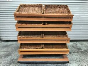 48 x31 4 Tier Wood Bread Produce Bakery Store Retail Display Rack Shelves 8630