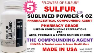 Humco Sulfur Sublimed Powder Usp 4 Oz flowers Of Sulfur Exp Date 08 2022 5