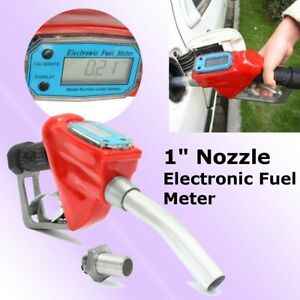 1 Fuel Gasoline Diesel Petrol Oil Delivery Gun Nozzle Dispenser With Flow Meter