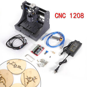 Hobby 3 Axis Cnc Router Carving Engraving Machine Pcb Milling Mini Mill 12v Ups