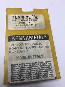 Kennametal Carbide Inserts Sm303 K9 6 Pcs