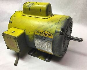 Used Baldor Industrial Motor 34 1001 1416 3410011416 1 2hp 115 230v 1725rpm